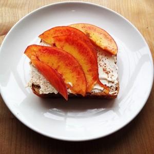 Peaches & Cream Toast